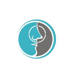 Nose care logo design template vector