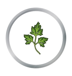 Parsley icon in cartoon style isolated on white vector