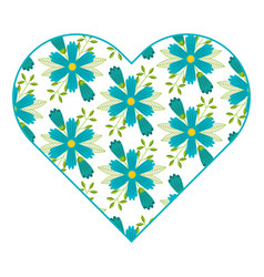 Pattern shape heart flower spring ornament image vector