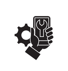 phone settings black concept icon phone vector image
