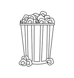 Popcorn snack icon image vector
