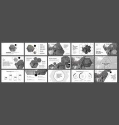 presentation template hexagonal elements vector image