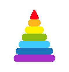 pyramid icon childrens colorful plastic toy vector image