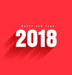 red background with 2018 text and shadow vector image