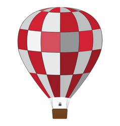 Red white air balloon vector image