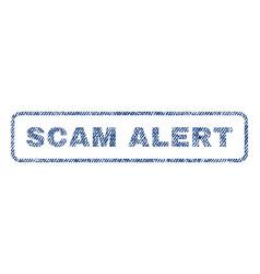 Scam alert textile stamp vector