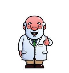 Scientist giving thumbs up vector image