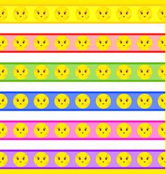 set of cartoon seamless patterns vector image