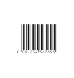 simple black barcode icon isolated on white vector image