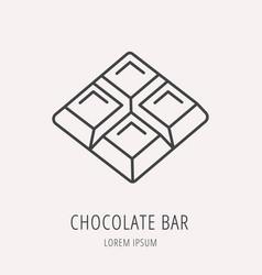 Simple logo template chocolate bar vector