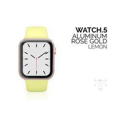 smart watch with lemon color bracelet realistic vector image