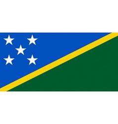 solomon islander flag vector image