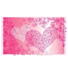 St Valentine Love Red Heart Card II vector image