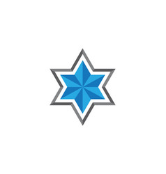 star david template icon vector image