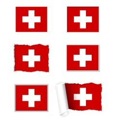 Switzerland flag set vector image
