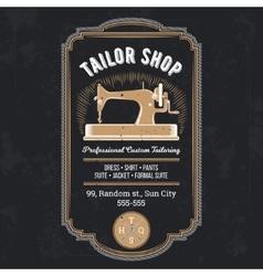 tailor emblem signage vector image