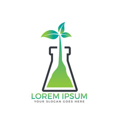 tree laboratory logo design vector image