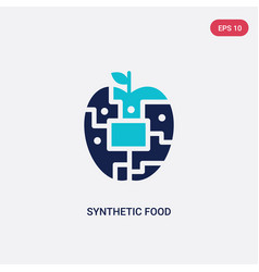 Two color synthetic food icon from artificial vector