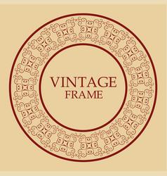vintage retro frame vector image
