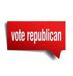 Vote republican red 3d speech bubble vector