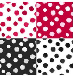 watercolor polka dot patterns black white vector image