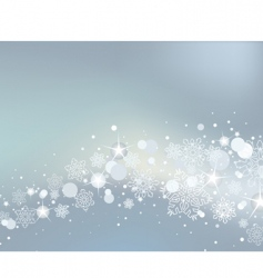 winter background with white snowflakes vector image