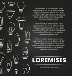 chalkboard poster with light bulbs vector image vector image