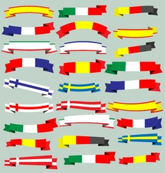 Ribbons and banners of europe vector image