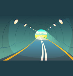 tunnel highway vector image