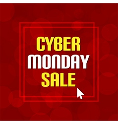 Cyber monday sale dark red bubble background vector