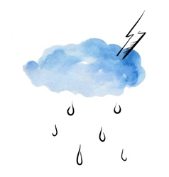 Doodle clouds and rain vector image vector image