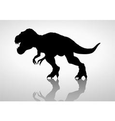 Silhouette of a tyrannosaurus rex vector image