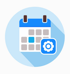 calendar configuration gear options settings icon vector image