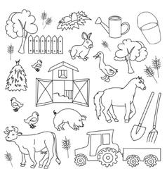 Doodle farm vector image vector image