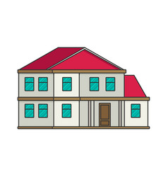 house flat style vector image vector image