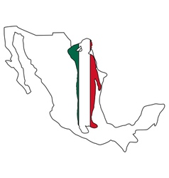Mexican salute vector image vector image