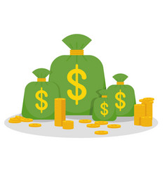 money many bag vector image