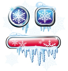winter buttons vector image vector image