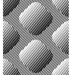 Abstract Striped Rhombuses Geometric Seamless vector image vector image