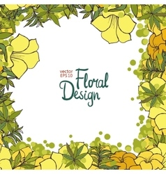 Floral Frame and place for your text vector image