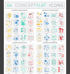 infographics concept icons of business management vector image vector image