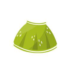 little green skirt for toddler girl children s vector image