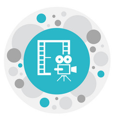 of movie symbol on photography vector image