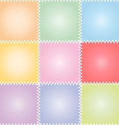 Seamless patchwork or quilt pastel vector image vector image