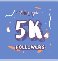 5k followers thank you template vector