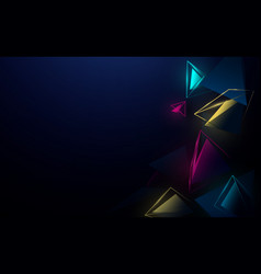 abstract 3d pyramids chaotic and color background vector image