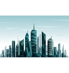 Abstract futuristic city made with triangle vector