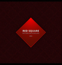abstract red square border seamless pattern on vector image