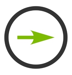 Arrow Axis X flat eco green and gray colors vector