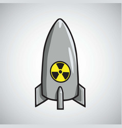 Atomic nuclear bomb icon vector